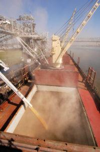 loading grain at Baton Rokuge