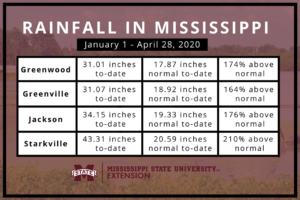 2020 Mississippi rainfall