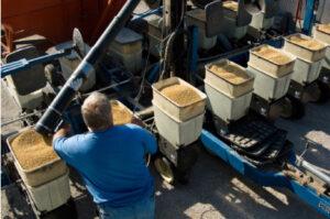 loading soybean planter
