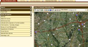 web soil survey screen